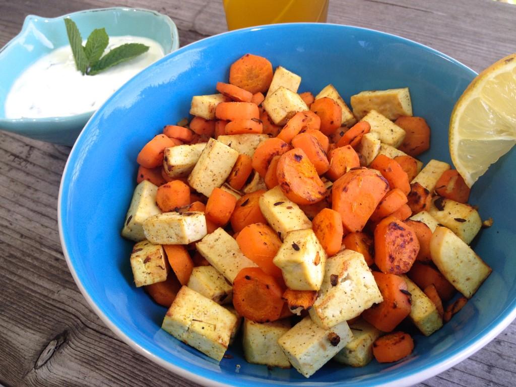 Karotten-Tofu-Pfanne