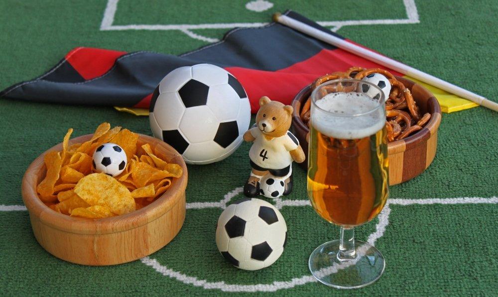 Fast-Food beim Fußball
